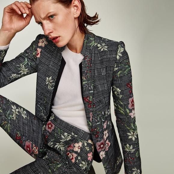 aa32df1a Zara Jackets & Coats | Jacquard Blazer Coat | Poshmark